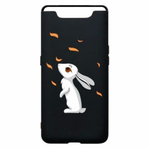 Phone case for Samsung A80 Rabbit looks at the leaves - PrintSalon
