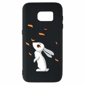 Phone case for Samsung S7 Rabbit looks at the leaves - PrintSalon