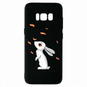 Phone case for Samsung S8 Rabbit looks at the leaves - PrintSalon