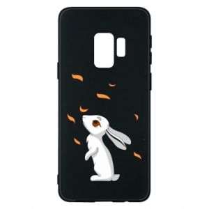 Phone case for Samsung S9 Rabbit looks at the leaves - PrintSalon