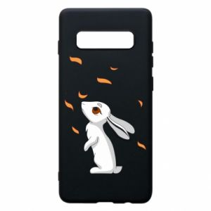 Phone case for Samsung S10+ Rabbit looks at the leaves - PrintSalon