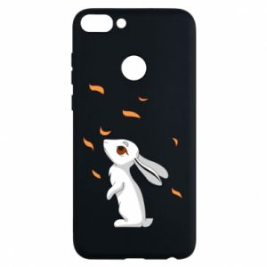 Phone case for Huawei P Smart Rabbit looks at the leaves - PrintSalon