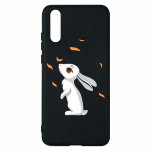 Phone case for Huawei P20 Rabbit looks at the leaves - PrintSalon