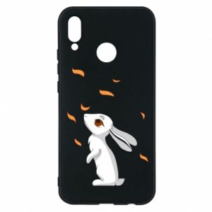 Phone case for Huawei P20 Lite Rabbit looks at the leaves - PrintSalon