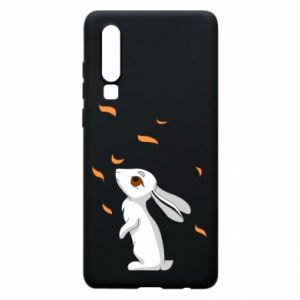 Phone case for Huawei P30 Rabbit looks at the leaves - PrintSalon