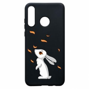 Phone case for Huawei P30 Lite Rabbit looks at the leaves - PrintSalon