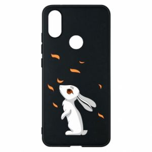 Phone case for Xiaomi Mi A2 Rabbit looks at the leaves - PrintSalon