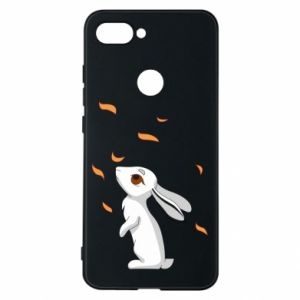 Phone case for Xiaomi Mi8 Lite Rabbit looks at the leaves - PrintSalon