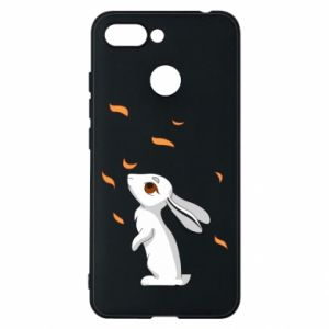 Phone case for Xiaomi Redmi 6 Rabbit looks at the leaves - PrintSalon