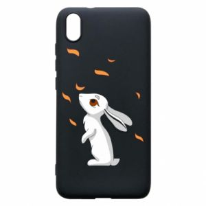 Phone case for Xiaomi Redmi 7A Rabbit looks at the leaves - PrintSalon
