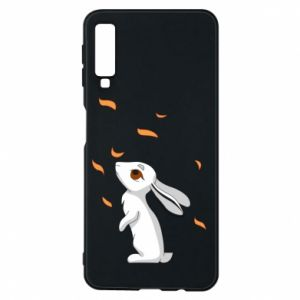 Phone case for Samsung A7 2018 Rabbit looks at the leaves - PrintSalon