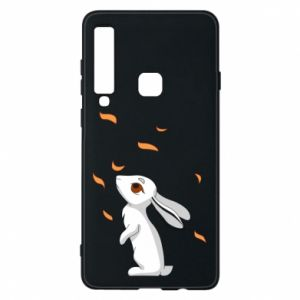 Phone case for Samsung A9 2018 Rabbit looks at the leaves - PrintSalon