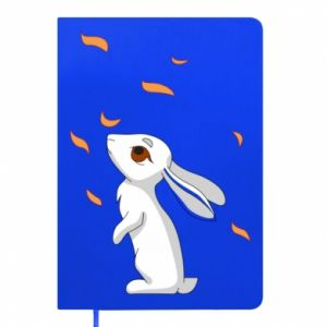 Notepad Rabbit looks at the leaves - PrintSalon