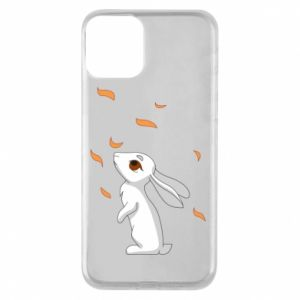 Phone case for iPhone 11 Rabbit looks at the leaves - PrintSalon