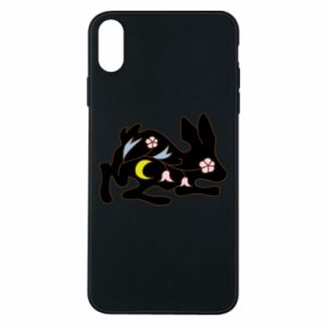 Etui na iPhone Xs Max Rabbit with flowers