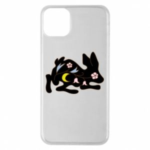 Etui na iPhone 11 Pro Max Rabbit with flowers