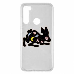 Xiaomi Redmi Note 8 Case Rabbit with flowers