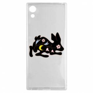 Etui na Sony Xperia XA1 Rabbit with flowers