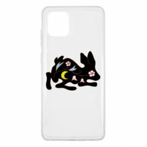 Etui na Samsung Note 10 Lite Rabbit with flowers