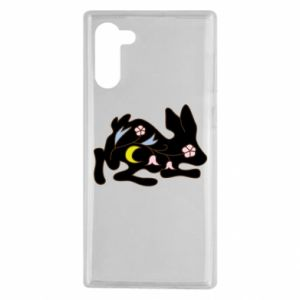 Etui na Samsung Note 10 Rabbit with flowers