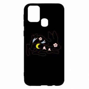 Etui na Samsung M31 Rabbit with flowers