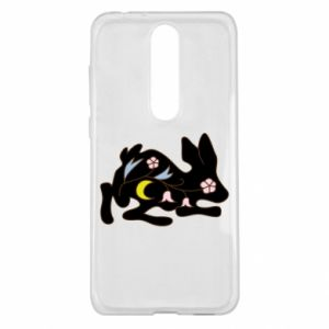 Etui na Nokia 5.1 Plus Rabbit with flowers