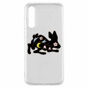 Etui na Huawei P20 Pro Rabbit with flowers