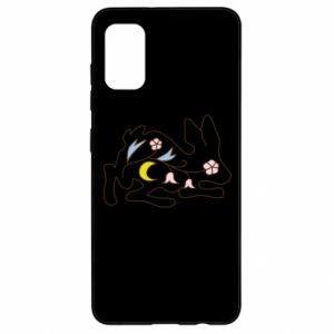 Etui na Samsung A41 Rabbit with flowers