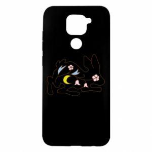 Etui na Xiaomi Redmi Note 9/Redmi 10X Rabbit with flowers