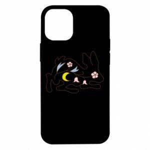 Etui na iPhone 12 Mini Rabbit with flowers