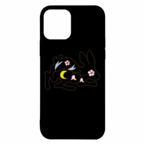Etui na iPhone 12/12 Pro Rabbit with flowers