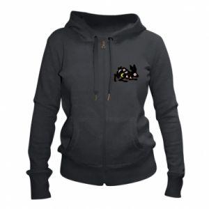 Women's zip up hoodies Rabbit with flowers - PrintSalon