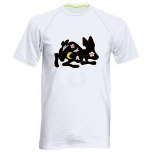 Koszulka sportowa męska Rabbit with flowers