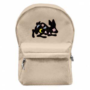 Plecak z przednią kieszenią Rabbit with flowers