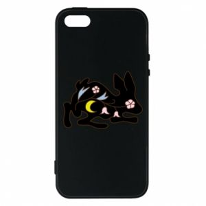 Etui na iPhone 5/5S/SE Rabbit with flowers
