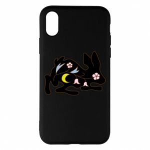 Etui na iPhone X/Xs Rabbit with flowers