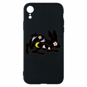 Etui na iPhone XR Rabbit with flowers