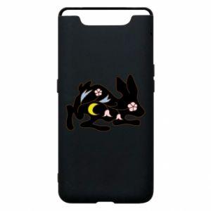 Etui na Samsung A80 Rabbit with flowers