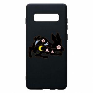 Etui na Samsung S10+ Rabbit with flowers