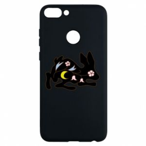 Phone case for Huawei P Smart Rabbit with flowers - PrintSalon