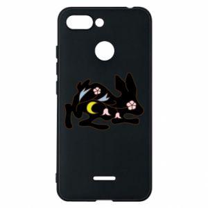 Etui na Xiaomi Redmi 6 Rabbit with flowers