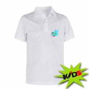 Dziecięca koszulka polo Rabbit with glasses