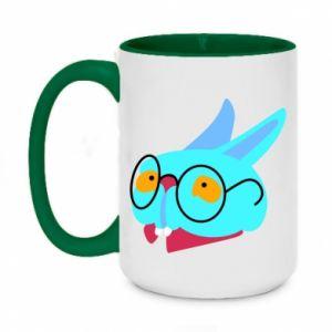 Kubek dwukolorowy 450ml Rabbit with glasses