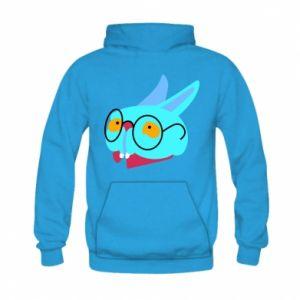 Bluza z kapturem dziecięca Rabbit with glasses