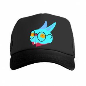Trucker hat Rabbit with glasses - PrintSalon