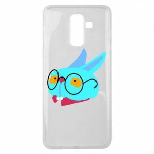 Etui na Samsung J8 2018 Rabbit with glasses