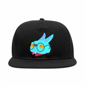 Snapback Rabbit with glasses