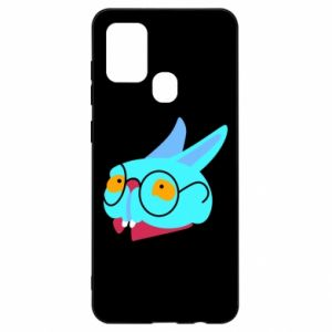 Etui na Samsung A21s Rabbit with glasses
