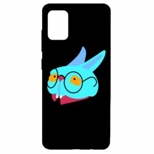 Etui na Samsung A51 Rabbit with glasses