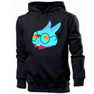 Men's hoodie Rabbit with glasses - PrintSalon
